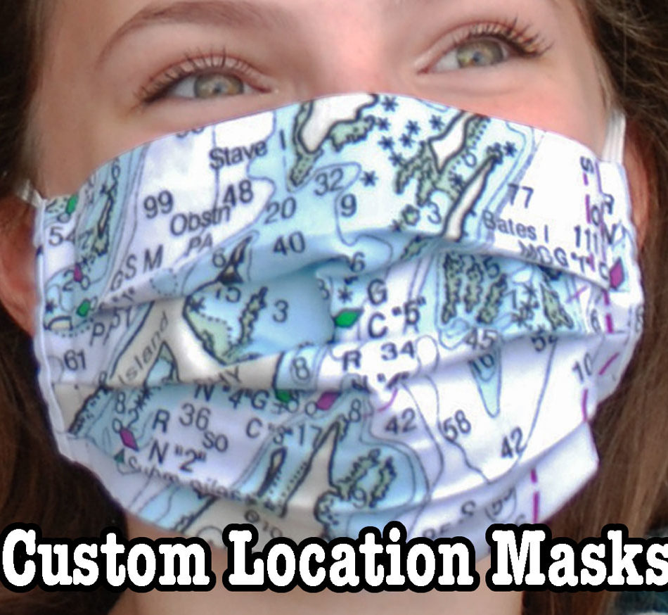 Non Medical Face Masks featuring custom locations