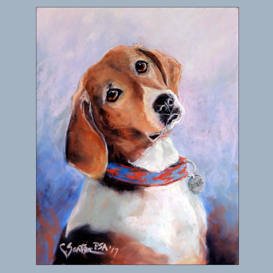 Dixie - pastel by Carol Santora