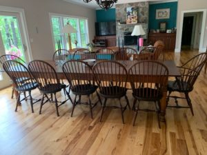 11ft. Norway Pine top farm table