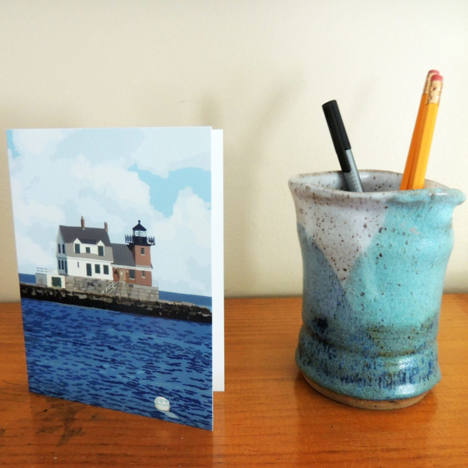 Rockland Breakwater Greeting Card