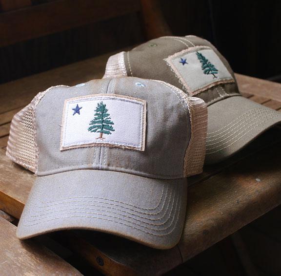 1901 Maine Flag Trucker Hats