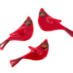cardinal fused glass ornament