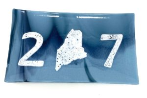 fused glass plate with 207