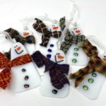 snowman ornament with scarf