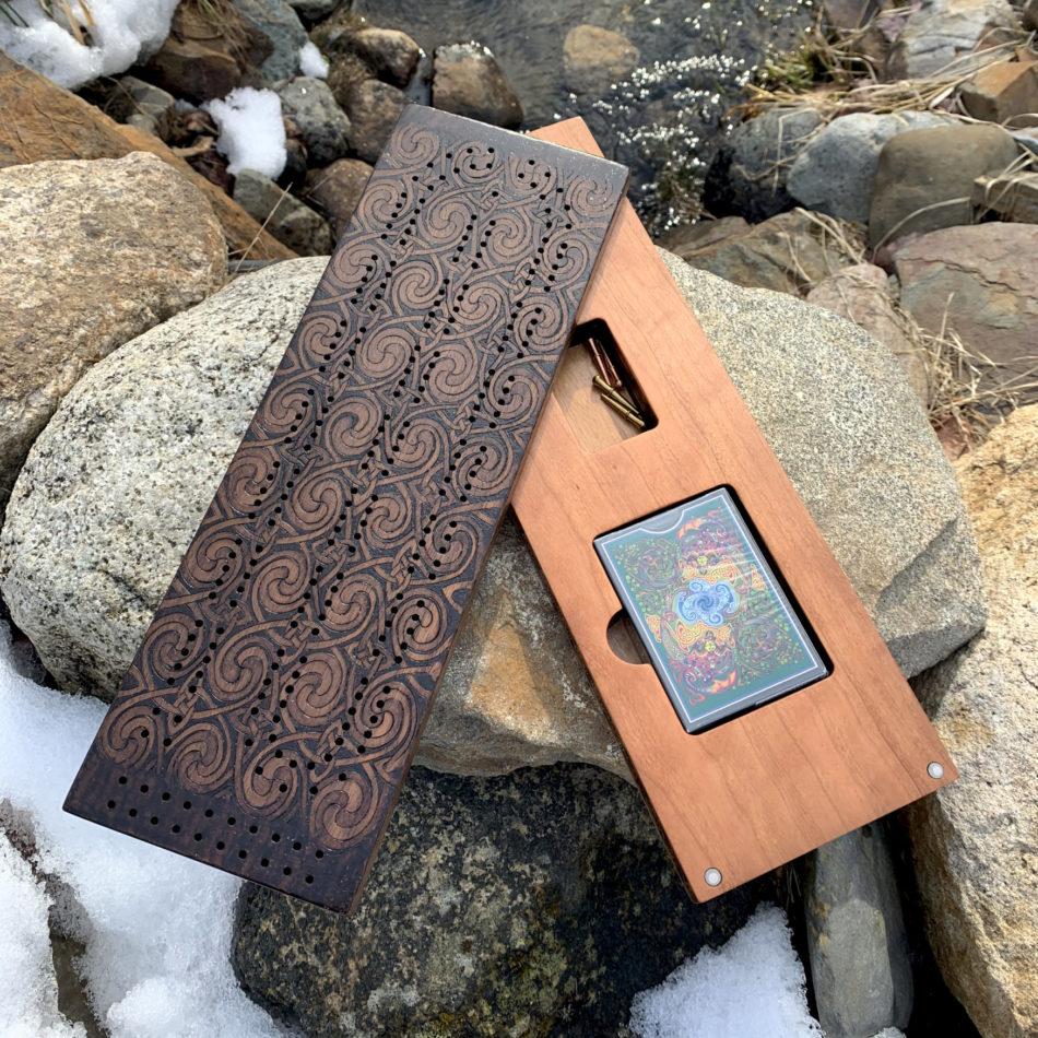 Celtic Cribbage - a Celt/Gael-themed Cribbage board